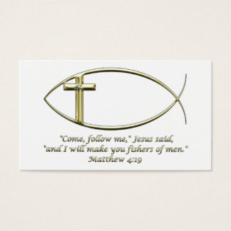 Matthew 4:19 business card