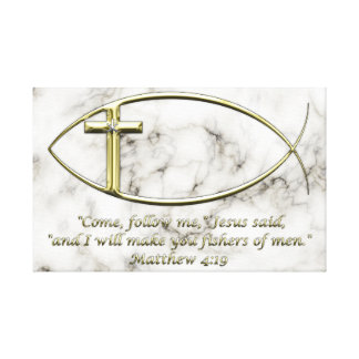 Matthew 4:19 canvas print