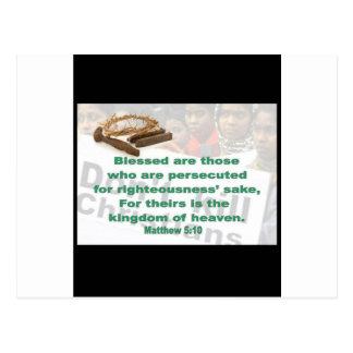 Matthew 5:10 post card