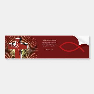 MATTHEW 5:11 Bible Verse Bumper Sticker