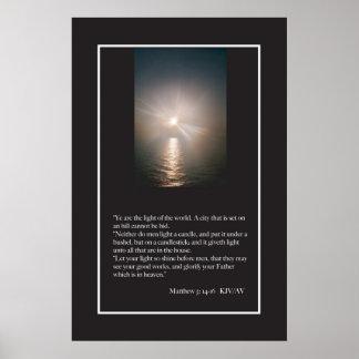 Matthew 5:13-16 Scripture Poster