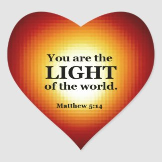 Matthew 5:14 heart sticker