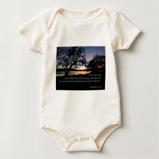 Matthew 5:16 Let Your Light Shine... Baby Bodysuit