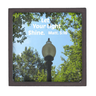 Matthew 5:16 Let your light shine Jewelry Box