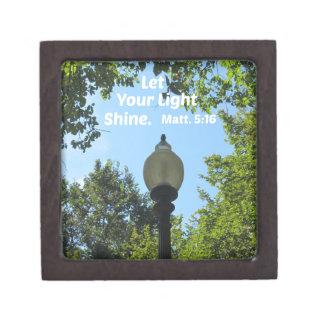 Matthew 5:16 Let your light shine Keepsake Box