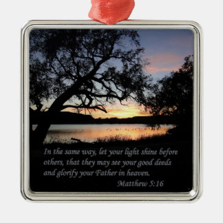 Matthew 5:16 Let Your Light Shine... Christmas Tree Ornaments