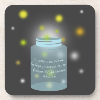 Matthew 5:16 Let Your Light So Shine Coasters