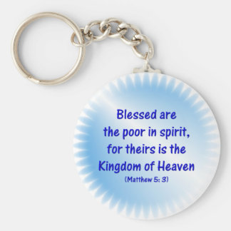 Matthew-5: 3 - Blessed are the poor in spirit.... Keychain