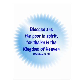 Matthew-5: 3 - Blessed are the poor in spirit.... Postcard