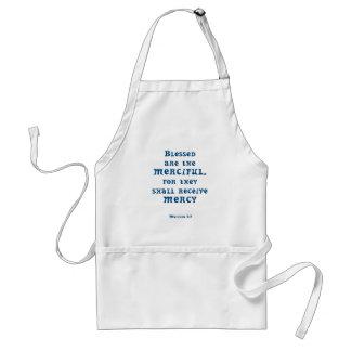 Matthew 5: 7 adult apron