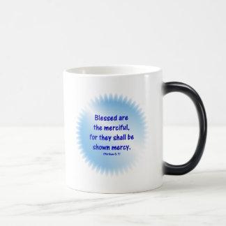 Matthew-5-7 - BLESSED ARE THE MERCIFUL.... Magic Mug