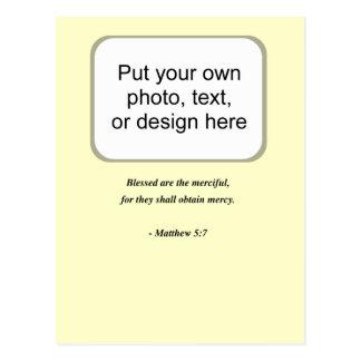 MATTHEW 5:7 POSTCARD