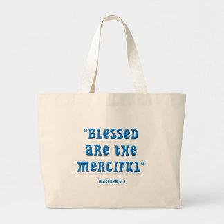Matthew 5: 7 tote bag