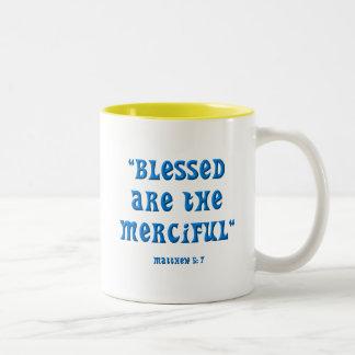 Matthew 5: 7 Two-Tone coffee mug