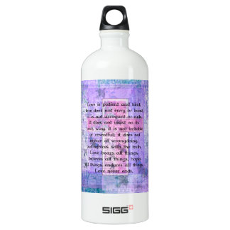 Matthew 5:8 Beautiful Bible Verse with Cross SIGG Traveler 1.0L Water Bottle