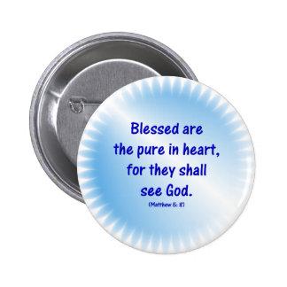 Matthew-5: 8 - BLESSED ES LA PURA EN CORAZÓN… Pins
