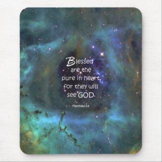 Matthew 5:8 mouse pad