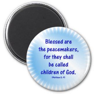 Matthew-5: 9 - BLESSED ES LOS PACIFICADORES… Imán Para Frigorífico
