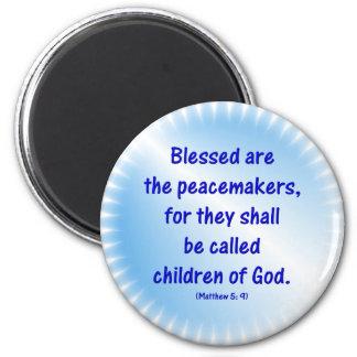 Matthew-5: 9 - BLESSED ES LOS PACIFICADORES… Imán