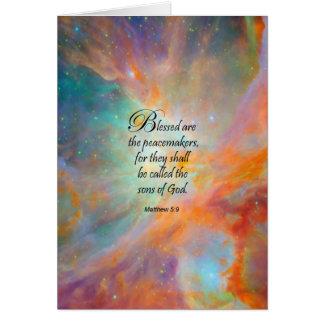 Matthew 5:9 greeting cards