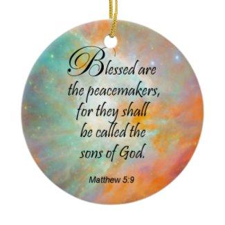Matthew 5:9 christmas tree ornament