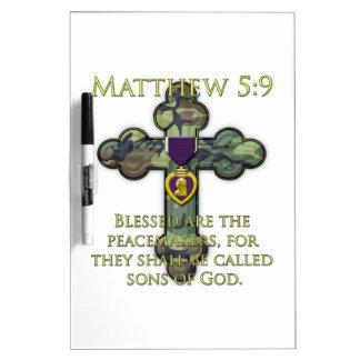 Matthew 5:9 dry erase board