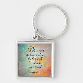 Matthew 5:9 keychain