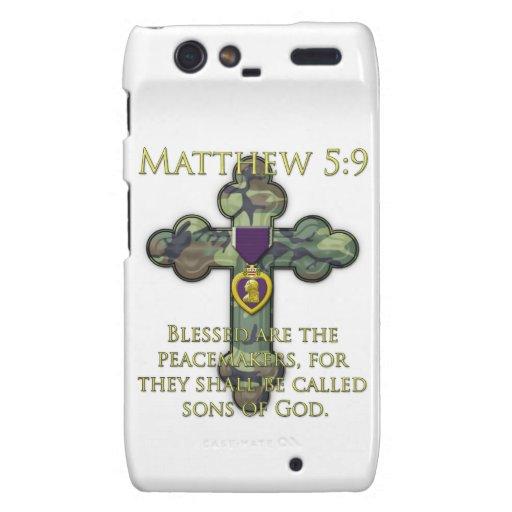 Matthew 5:9 motorola droid RAZR case