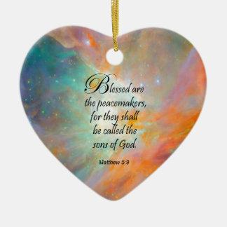 Matthew 5:9 ornaments