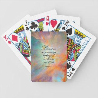 Matthew 5:9 bicycle poker cards