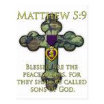Matthew 5:9 postcard