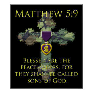Matthew 5:9 poster