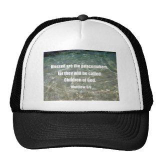 Matthew 5:9 trucker hat
