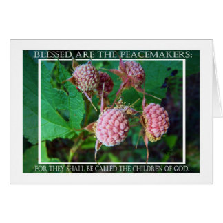 Matthew 5 scripture with thimbleberry photograph greeting card