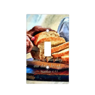 Matthew 6:11 switch plate cover