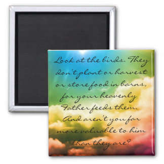 Matthew 6:26 2 inch square magnet