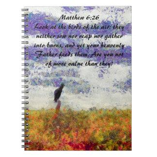 matthew 6:26 notebook