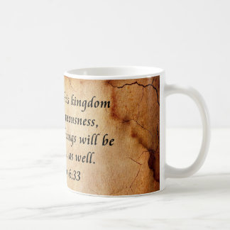 Matthew 6:33 Bible Verse Coffee Mug