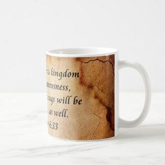 Matthew 6:33 Bible Verse Mugs