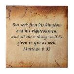 Matthew 6:33 Bible Verse Tile