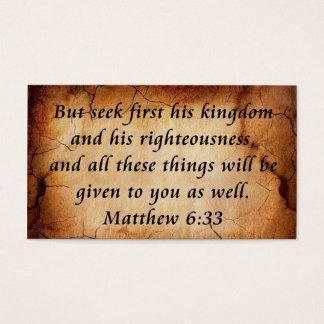 Matthew 6:33 business card