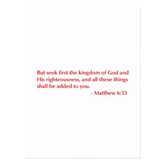 Matthew-6-33-opt-burg.png Post Card