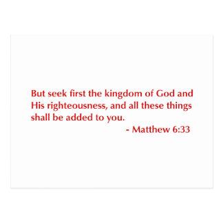 Matthew-6-33-opt-burg.png Postcard