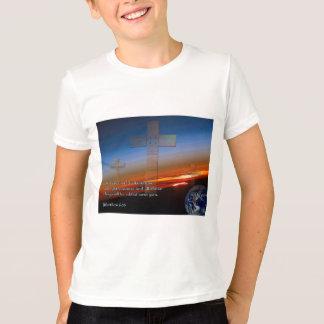 Matthew 6:33 Sunset Crosses T-Shirt