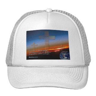 Matthew 6:33 Sunset Crosses Trucker Hat