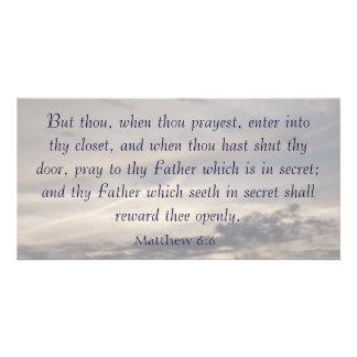 Matthew 6:6 card