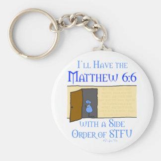 Matthew 6:6 keychain