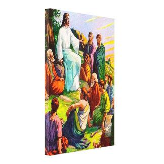 Matthew 6 Jesús enseña sus seguidores a la lona Lona Estirada Galerías