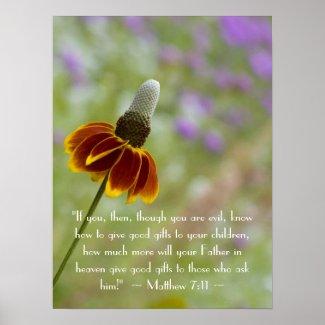 Matthew 7:11 Poster print