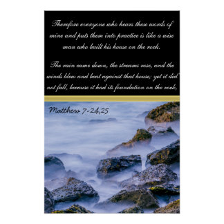 Matthew 7-24'25 Therefore everyone who Poster